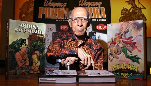 RA Kosasih, kreator komik Sri Asih yang juga dikenal sebagai Bapak Komik Indonesia (foto: m.tempo.co)