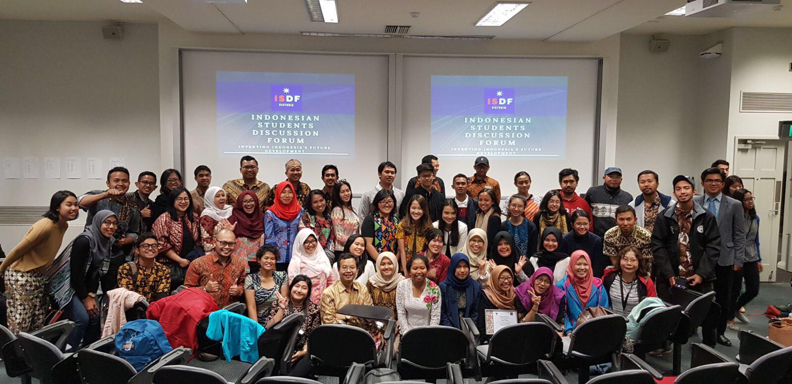 Para panitia acara Indonesian Students Discussion Forum (ISDF) 2018 Melbourne Australia