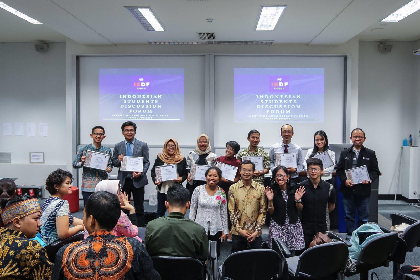 Para pembicara acara Indonesian Students Discussion Forum (ISDF) Selasa, 27 maret 2018