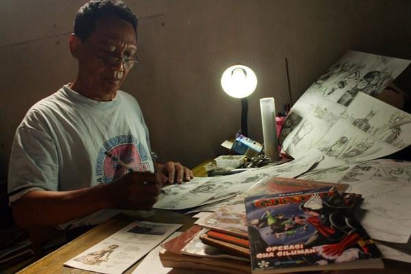 Sang legendaris gundala putera petir Bapak Hasmi www.radarcirebon.com