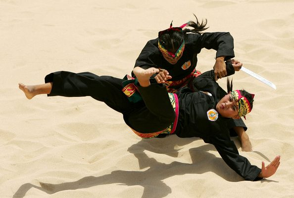 Pencak SIlat (Olah raga beladiri tradisiona Indonesia) Photo by : Indonesiaexpat.biz)