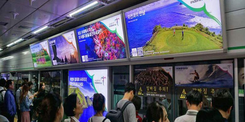 Kemenpar memasang branding Wonderful Indonesia di dua kota besar di Korsel, yakni Seoul dan Busan.(  Artikel ini telah tayang di Kompas.com dengan judul