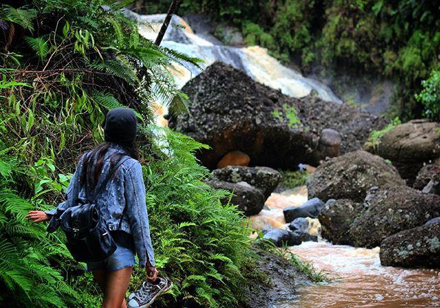 Kedung Kandang, air terjun bertingkat di perbukitan Gunungkidul, DIY.