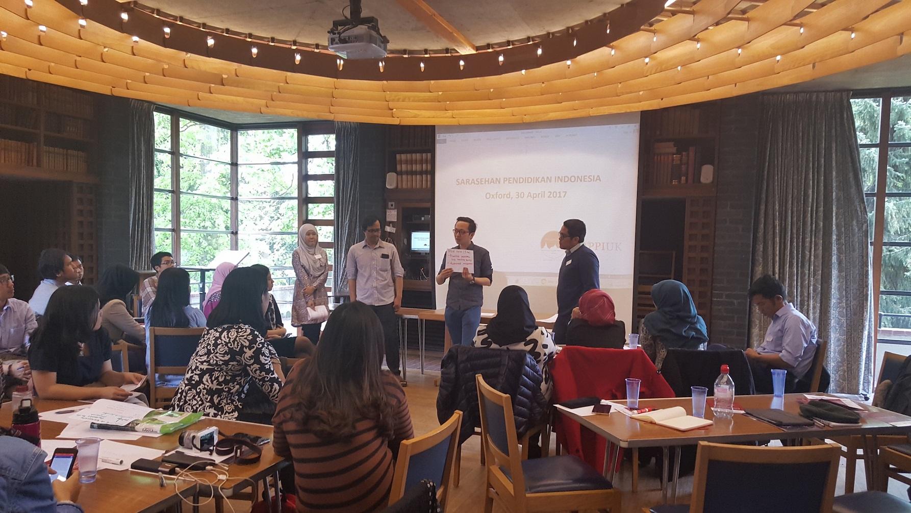 Diskusi perihal 5 aspek pendidikan Indonesia (Foto: PPI Dunia)