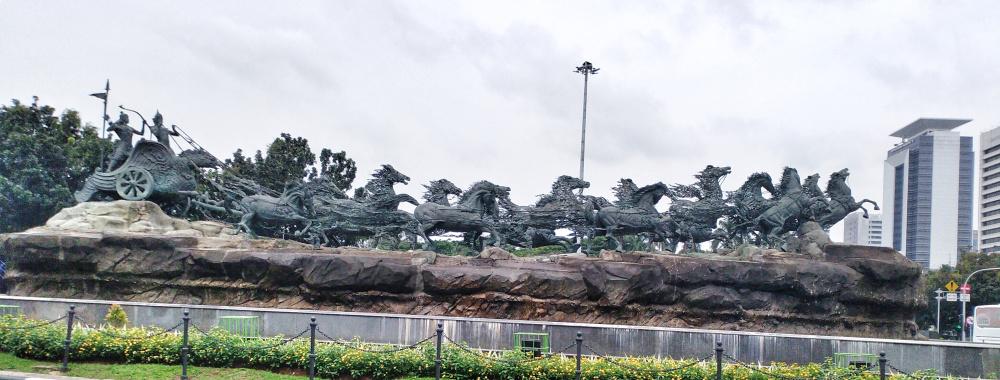 patung kuda arjuna wijaya
