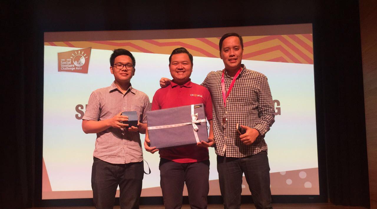 CROWDE memenangkan penghargaan SVC Asia 2017 (© tekno.liputan6.com)