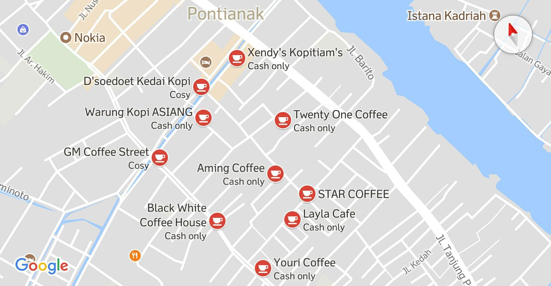 Peta wilayah Gajah Mada Pontianak (© google Maps)