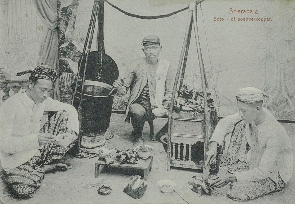 Ilustrasi penjual soto di masa lalu   Foto: phinemo.com