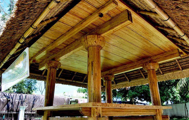 Contoh bangunan yang terbuat dari bahan bambu laminasi   Foto: litbang.pu.go.id