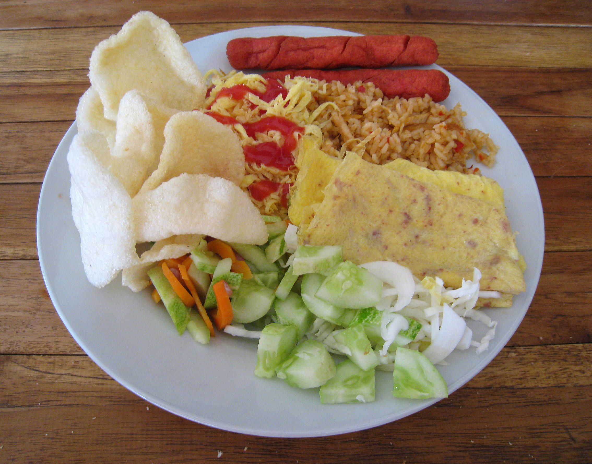 Ilustrasi variasi menu dari nasi goreng | Foto: wikimedia.org