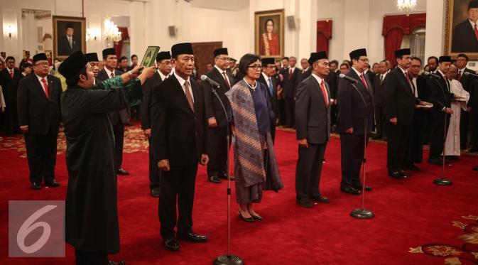 Sri Mulyani ketika dilantik pada reshufle Kabinet Kerja, Juli 2016 lalu (liputan6.com)