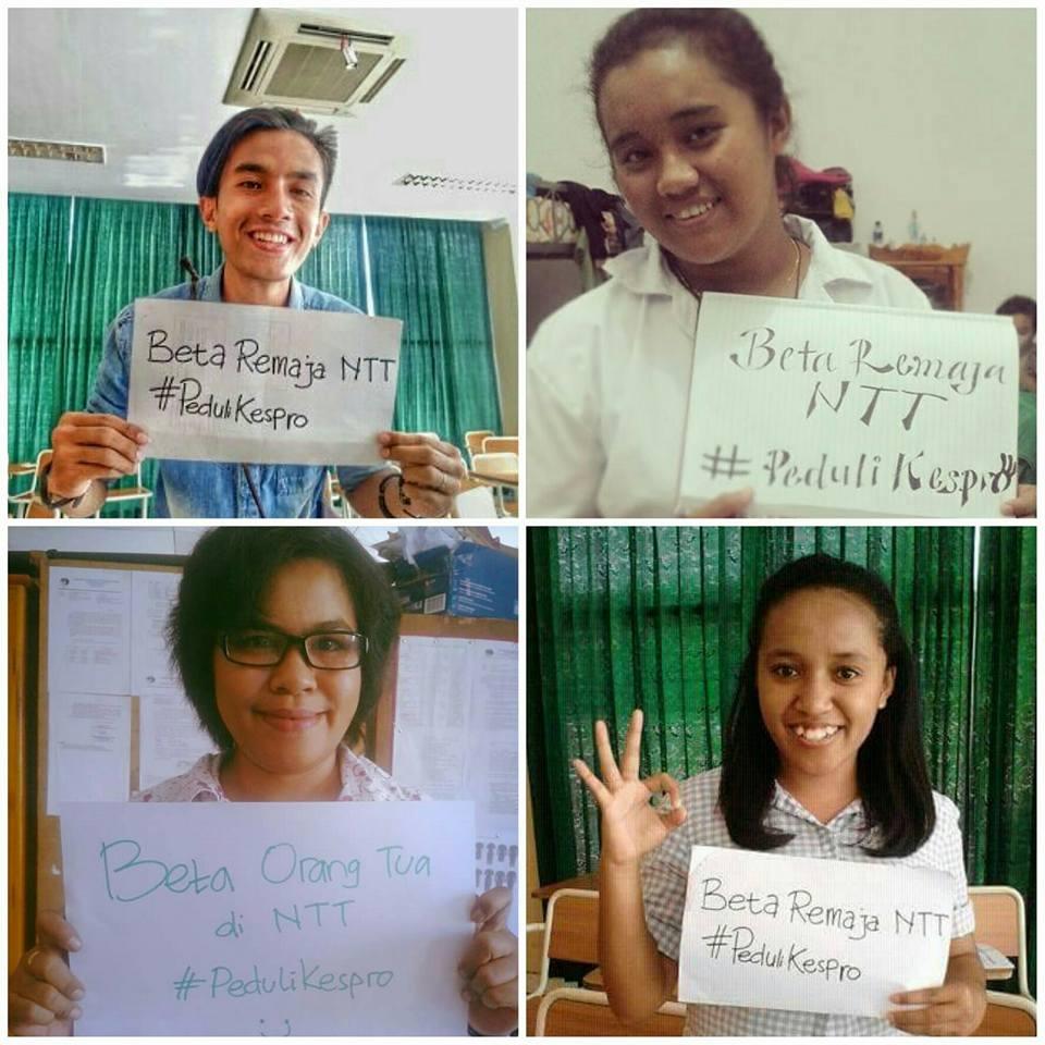 Kampanye yang dilakukan TENGGARA melalui sosial media, suatu upaya untuk menjangkau kaum muda (sumber : facebook.com/tenggara.ntt/)
