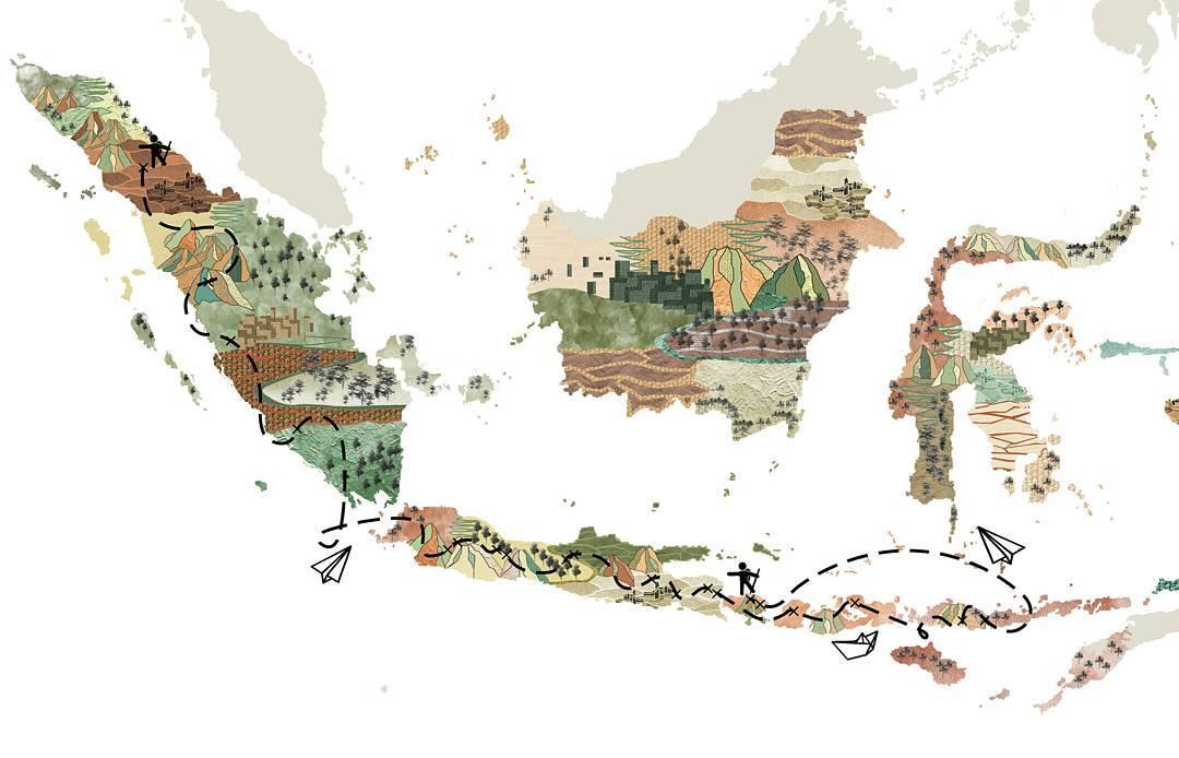 rencana perjalanan Rémi menjelajadi gunung - gunung api di Indonesia (instagram.com/kakiapi_indonesia)
