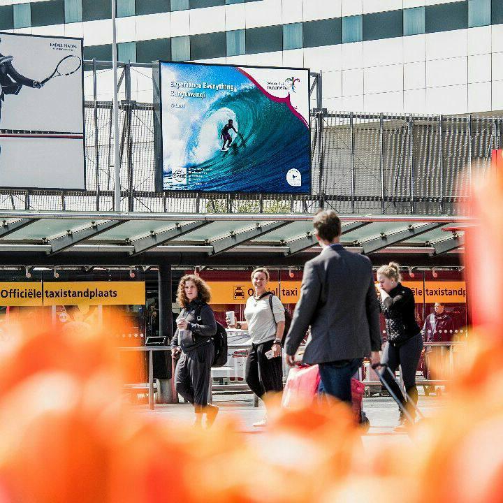 Penampakan iklan Wonderful Indonesia di Bandara Schiphol, Amsterdam.  (©kemenpar)