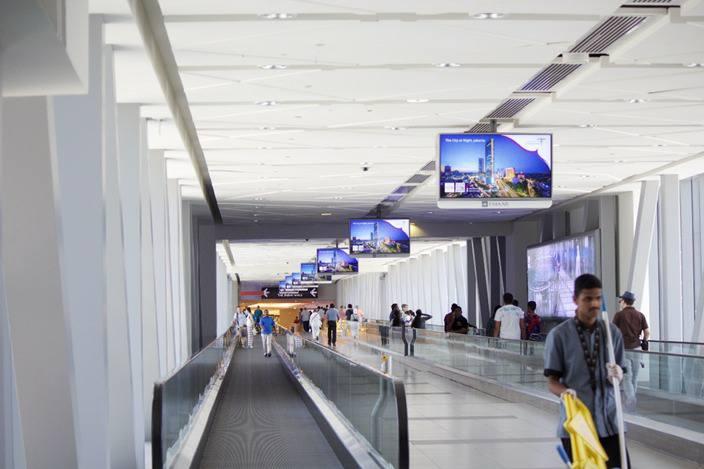 Salah satu titik di kawasan Dubai Mall dimana iklan Wonderful Indonesia ditayangkan (©kemenpar)