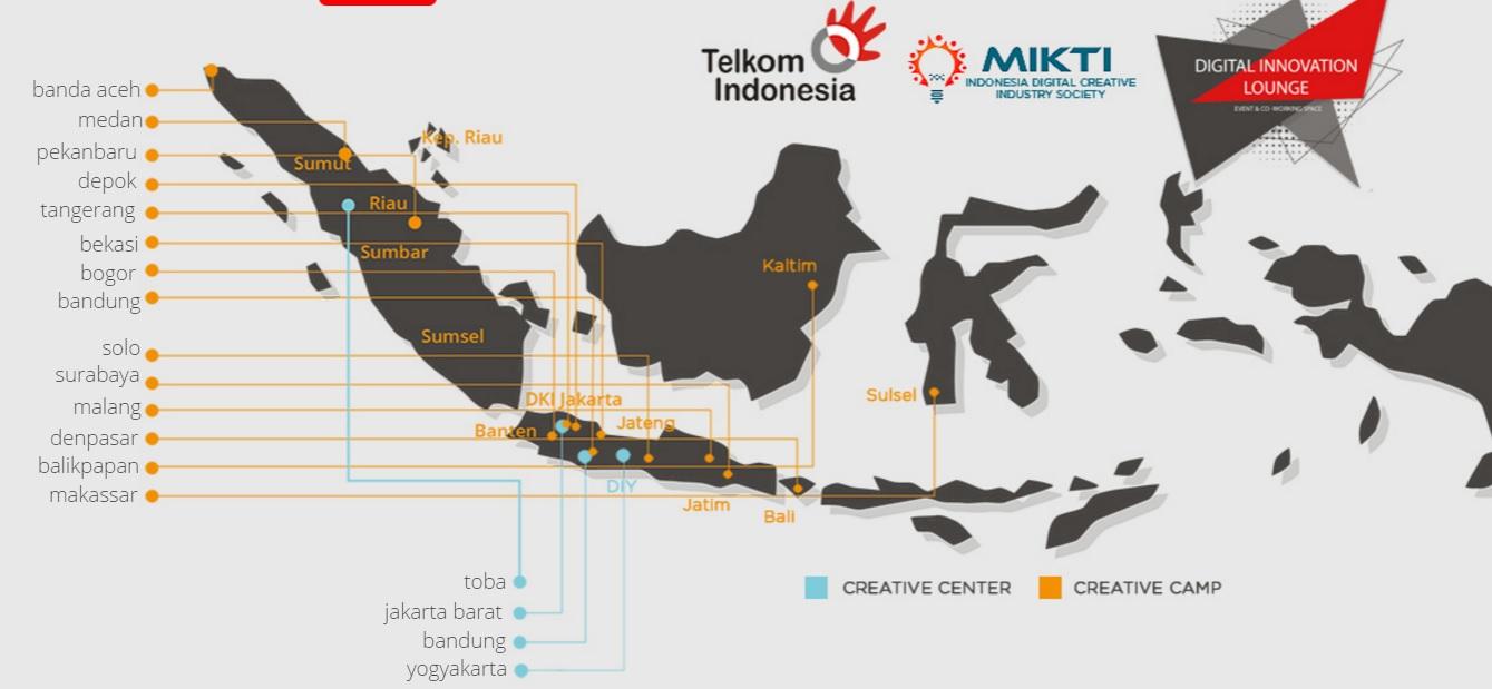 Persebaran Dilo di berbagai kota di Indonedia (sumber : dilo.id)