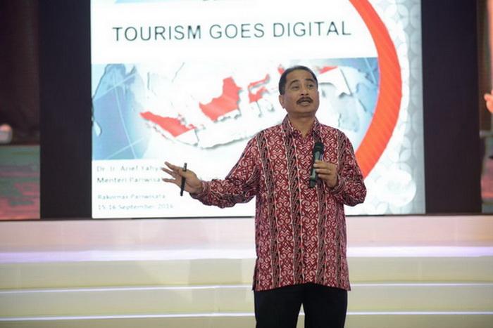 Menteri Pariwisata Arief Yahya dalam Rakornas Pariwisata ke-3 bertajuk ''Go Digital Be The Best'' di Ecopark Ancol, Jakarta, beberapa waktu lalu (sumber : releaseinsider.com)