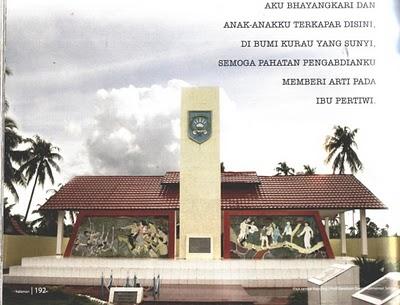 Monumen Bhayangkari Mathilda Batlayeri di Kurau, Kalimantan Selatan (sumber : maluku-online.com)