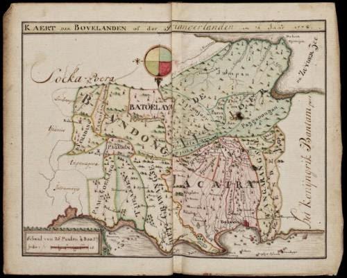 Peta Bandung di zaman dulu ( Bandung Tempo Dulu)
