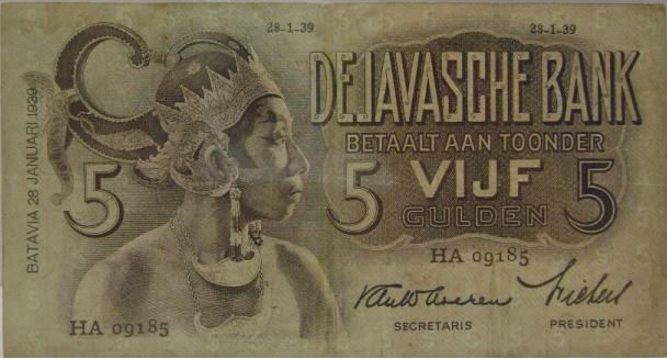 Salah satu pecahan mata uang yang diterbitkan De Javasche Bank (sumber : abualbanie.wordpress.com)
