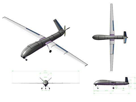 rancangan bentuk Drone MALE (jakartagreater.com)