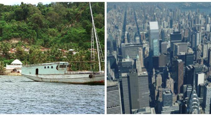 Manhattan kian berkembang, sementara Pulau Run semakin dilupakan (liputan6.com)