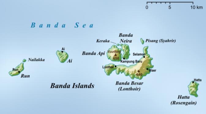 Peta Kepulauan Banda saat ini (wikipedia.org)