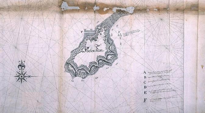 Peta Pulau Run pada masa kolonial (sumber : wikipedia.org)