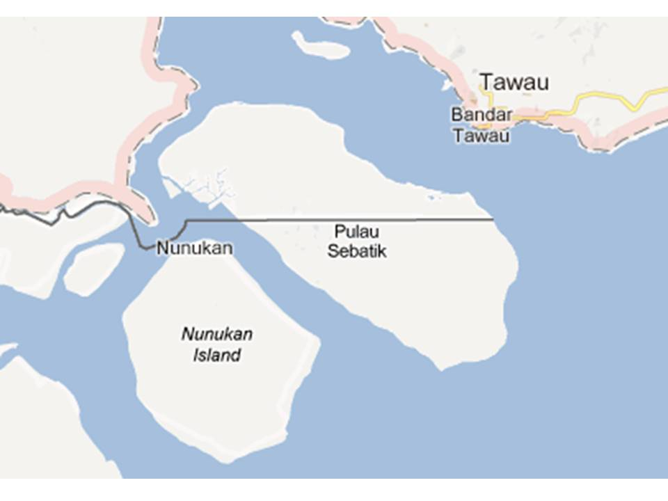 Peta pulau Sebatik