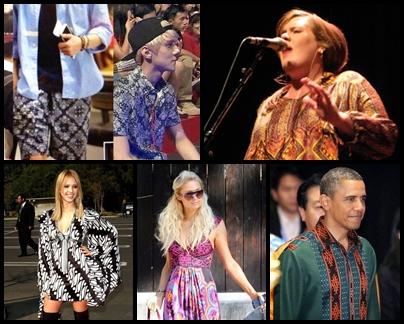 Para publik figur dunia juga mulai mengenakan batik.