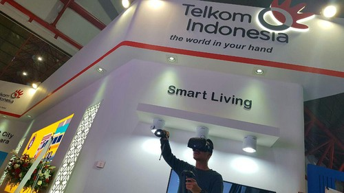 Booth Telkom Indonesia di Communic Indonesia 2016. foto: detik.com