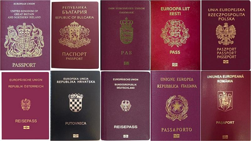 warna sampul paspor negara-negara Uni Eropa. foto: croatiaweek.com
