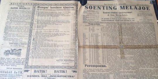 Manuskrip Soenting Melajoe. | Foto : merdeka.com
