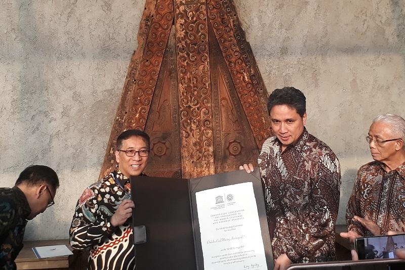 Kemendikbud Indonesia terima sertifikat warisan dunia kategori budaya untuk Tambang Batu Bara Ombilin di Sawahlunto | Sumber liputan6