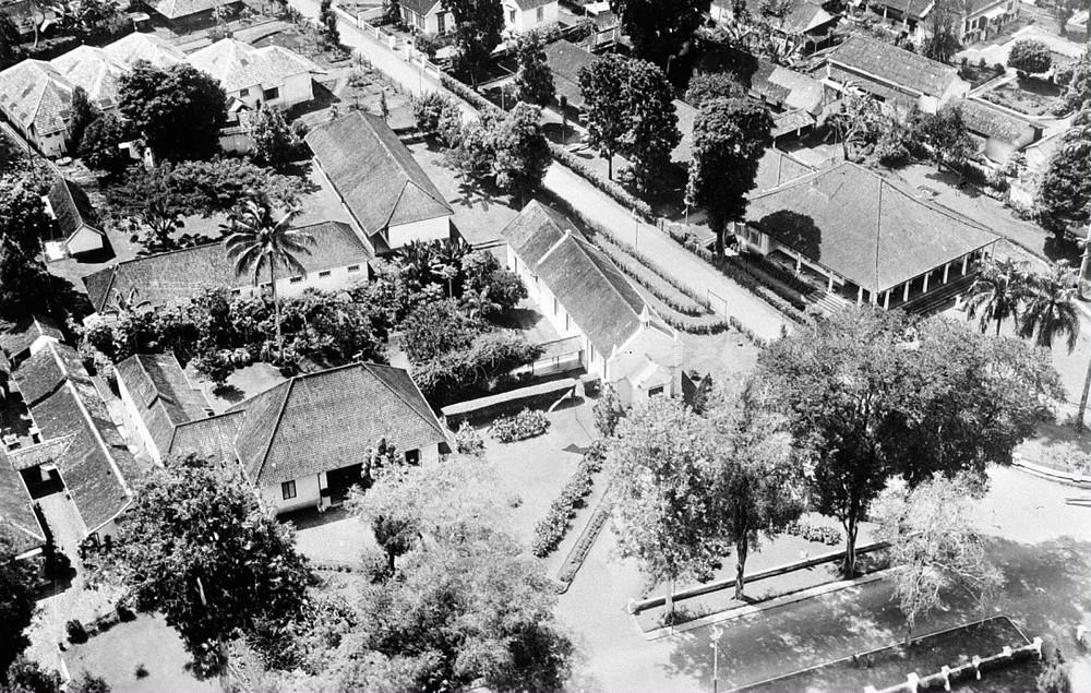 Foto Udara Daerah Gereja Katolik Roma antara 1920-1940 (Saat ini Gereja St. Paulus Miki)